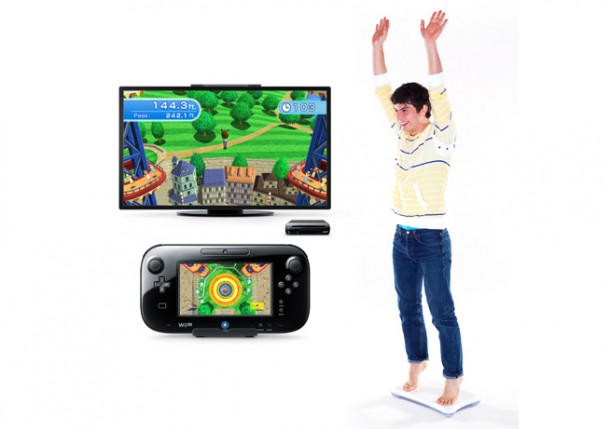 Wii Fit U trampoline