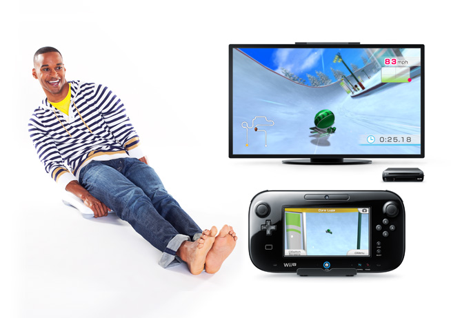 Wii Fit U luge race