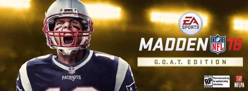 Tom Brady to grace the cover of Madden 18 G.O.A.T Edition