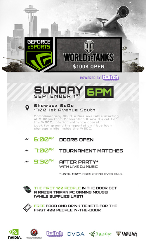 World of Tanks GeForce PAX Prime 2013 Party
