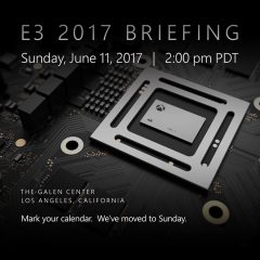 Xbox's E3 press conference shifting to Sunday for 2017